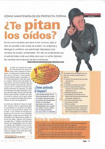 Artículo de la revista Diving a fondo en la que ha colaborado la Dra. Clara Beltrán de Yturriaga