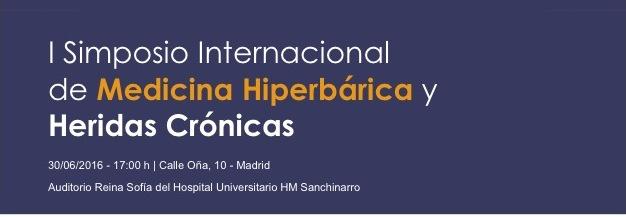 I Simposio Internacional de medicina hiperbárica, Madrid 2016