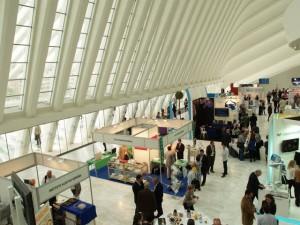 Vista del interior del Palacio de Exposiciones y Congresos Ciudad de Oviedo