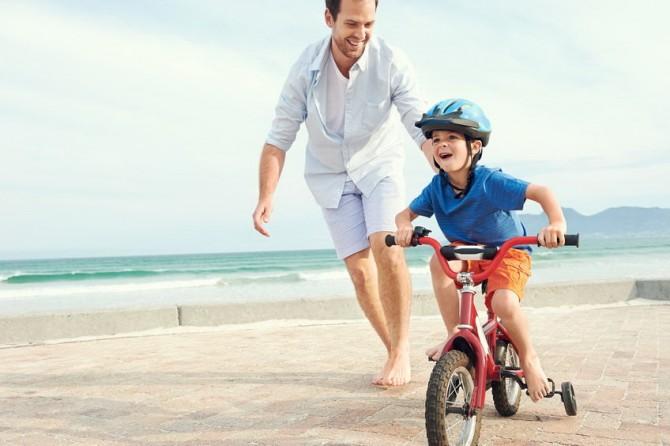 Padre e hijo sin trastornos del equilibrio. Potenciales vestibulares miogénicos evocados